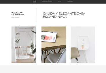 Plantilla web Scandinavian decor de Art