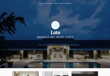 Plantilla web Lotus hotel de Hotels