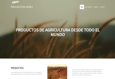 Plantilla web Agro projects de Nature