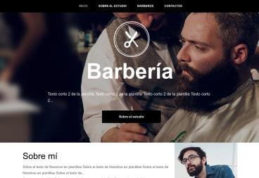 Plantilla web Barber de Services