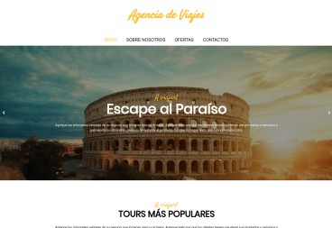 Plantilla web Travel agency de Travel
